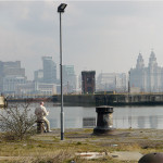 Paper reader with Liverpool view