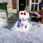Hungover snowman, Portsmouth 2010