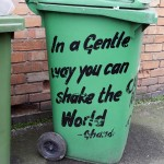 Shake the world bin